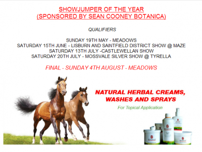 Mossvale Show Jumper of the Year Sponsored by Botanica