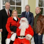 Pictured at The Saintfield Christmas Charity Ride Launch at Rowallane Garden Saintfield last Thursday.  Councillor Robert Burgess, Joan Cunningham (Ride Organiser), Santa, Derek Spencer and Philip Houston (Get Noticed Signs). Photo: John Gibson, Sporting Images NI