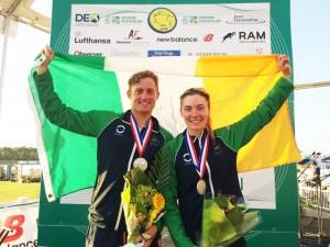 Irish Olympians, Arthur Lanigan-O'Keeffe and Natalya Coyle, claiming silver for Ireland at Sarasota World Cup 22/02/2015