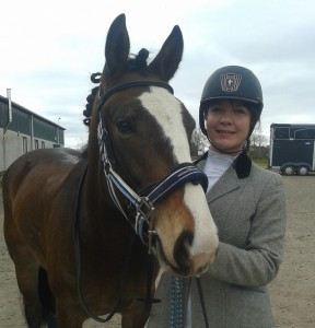 Emma King & Molly relax after competing @ SVRC 18th Annual Combined Training show