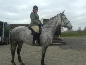 Jane Huey & Sasha after competing in Class 4