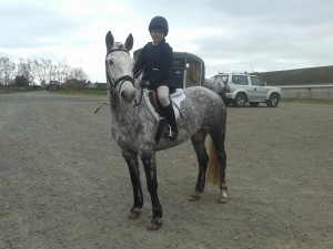 Kamryn McQuade with Midnight Rebel from Fermanagh Harriers PC