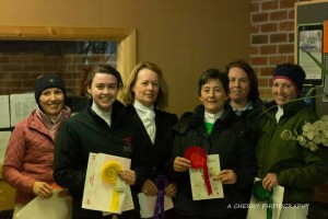 Rosette presentation for the 1st Leg of SMWRC Dressage League – Elementary Class (photo courtesy of Adrian Cherry).