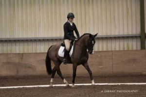 Sarah Sproule enjoying a 1st and 2nd place in the 1st Leg of SMWRC Dressage League Intro Class (picture courtesy of Adrian Cherry Photography)